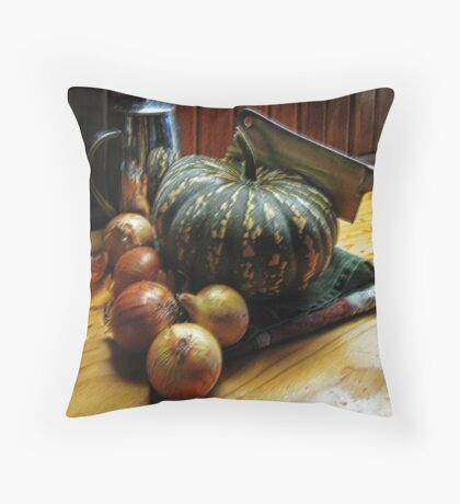 pumpkin and onions Throw Pillow