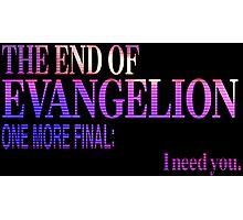 End of Evangelion Glitch Photographic Print