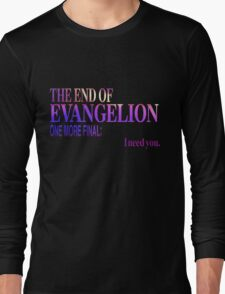 End of Evangelion Glitch Long Sleeve T-Shirt