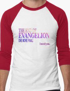End of Evangelion Glitch Men's Baseball ¾ T-Shirt
