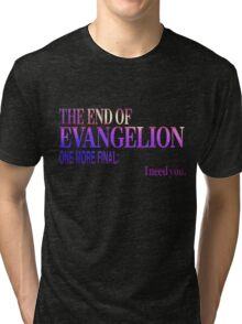 End of Evangelion Glitch Tri-blend T-Shirt