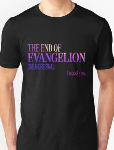 End of Evangelion Glitch Unisex T-Shirt