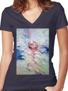 Gethsemane, Mt 26:42 (Calices) Women's Fitted V-Neck T-Shirt