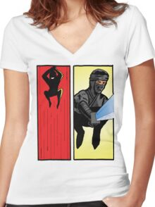 Sneak Attack! Women's Fitted V-Neck T-Shirt