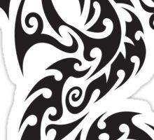 Tribal dragon totem Sticker