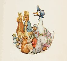 Cecily Parsley's Nursery Rhymes Beatrix Potter 1922 0003 Rabbits Mice Squirrels Goose Hedgehog by wetdryvac