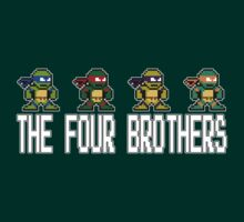 8-Bit TMNT Four Brothers by VashCrow