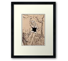 Don't come too close to the river Framed Print
