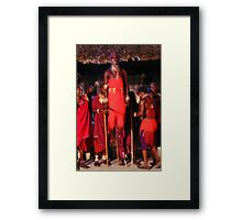 Samburu dancer, KENYA Framed Print