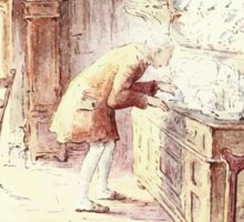 The Tailor of Gloucester Beatrix Potter 1903 0033 Tailor at Sideboard Sticker