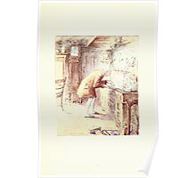 The Tailor of Gloucester Beatrix Potter 1903 0033 Tailor at Sideboard Poster