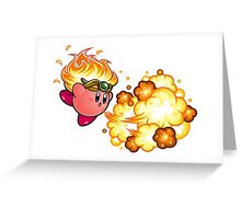 kirby fire power Greeting Card