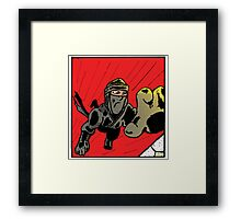 Dive for survival! Framed Print
