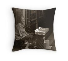 Street Vendor in Berlin Throw Pillow
