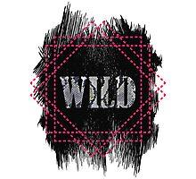 Wild- snake word on black texture Photographic Print