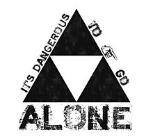 It's Dangerous To Go Alone... Photographic Print
