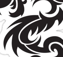 Tribal dragon totem Sticker