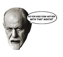Freud jokes about your Oedipus complex Photographic Print