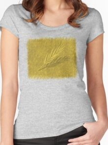 Wheat Women's Fitted Scoop T-Shirt