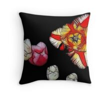 Stained Glass Tulips Throw Pillow