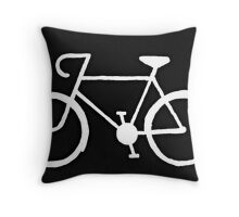 Bicycle Silhouette Throw Pillow