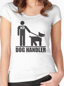 Dog Handler K9 Pictogram Women's Fitted Scoop T-Shirt