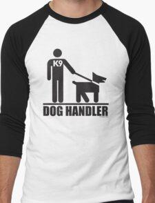 Dog Handler K9 Pictogram Men's Baseball ¾ T-Shirt