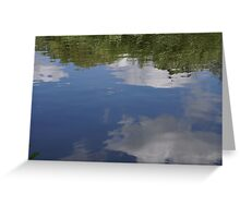 Sky in reflection Greeting Card