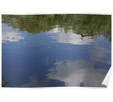 Sky in reflection Poster