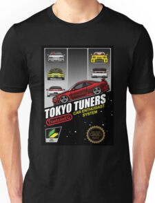 Tokyo tuners - black background Unisex T-Shirt
