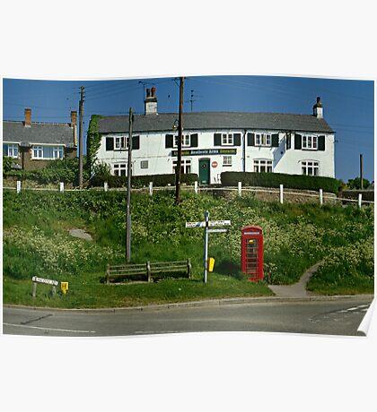 Village pub, Croft, Leicestershire, England, UK 1990s Poster