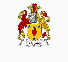 Coat of arms (family crest) for last-name or surname Falconer . Heraldry banner for your name. T-Shirt