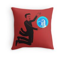 Tesla and the Pigeon Throw Pillow