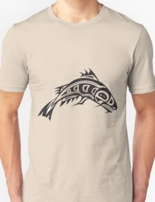 Northwest Native Indian fish totem (horizontal) T-Shirt
