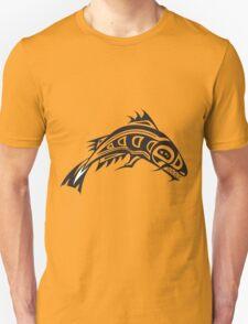 Northwest Native Indian fish totem (horizontal) T-Shirt