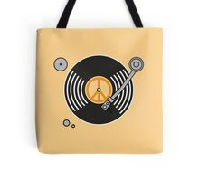 Groovy Orange Record Player Tote Bag