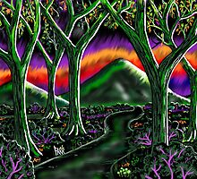 """Electric Grape Forest"" by Steve Farr"