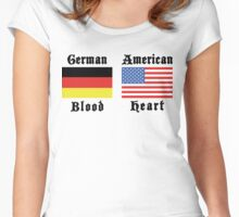 German Blood American Heart Women's Fitted Scoop T-Shirt