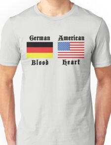 German Blood American Heart Unisex T-Shirt
