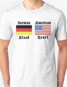 German Blood American Heart Unisex T-Shirt