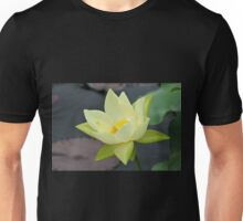 Large Pale Yellow Water Lily Unisex T-Shirt