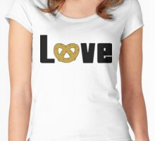 Love Pretzels Women's Fitted Scoop T-Shirt