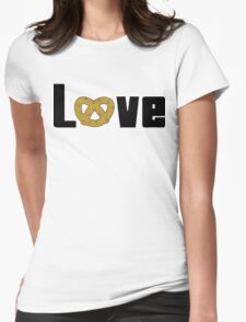 Love Pretzels Womens Fitted T-Shirt