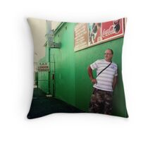 Green Walls in Sketchy Places. Throw Pillow