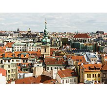 Prague Roof Tops City Scape Photographic Print