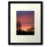 The water-colour sunset  Framed Print