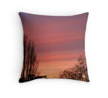 The water-colour sunset  Throw Pillow