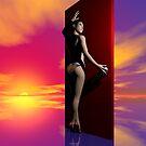 The Red Door by Sandra Bauser Digital Art