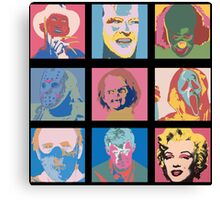 Andy Warhol Inspired Horror Icons Canvas Print