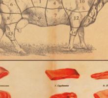 Vintage Meat Ad Sticker
